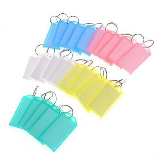 50 pcs Double Sided Multi Color Keychains