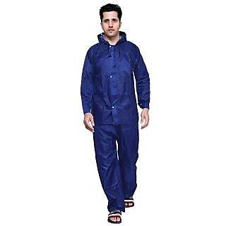 abc garments Mens Solid Blue Raincoat