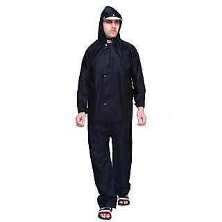 abc garments Mens Solid Black Raincoat