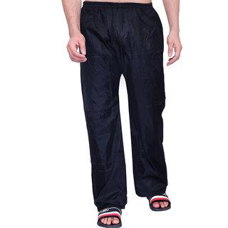 abc garments Solid Mens Black Raincoat