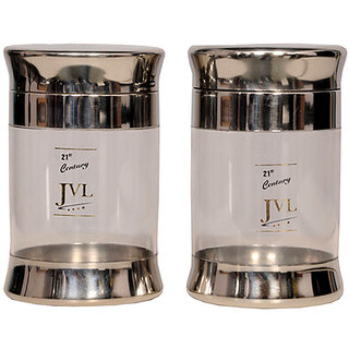 JVL Fusion Stainless with Acrylic 750 Steel Canisters (Medium)
