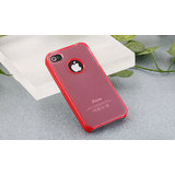 New Imprue[TM] Frosted Red Slim Fit Hard Back Case For IPhone 4/4S With Logo Cut Out