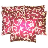 Printed Designed Cushion Cover (Set Of 5 Pcs)