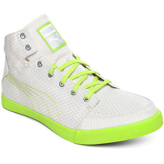 Puma Mens White Lace-Up Smart Casuals