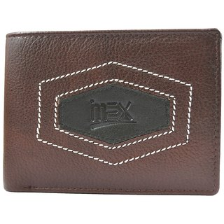 Imex Mens Brown Stylish Genuine Leather Wallet