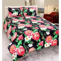 Home Castle Super Soft Double Bedsheet + 2 Pillow Covers(PC-DBL-3D26)