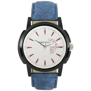 Tigerhills Watch Strap Blue Dial Black Model No-T196177