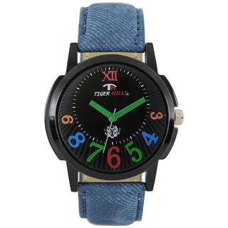 Tigerhills Watch Strap Blue Dial Black Model No-T196179