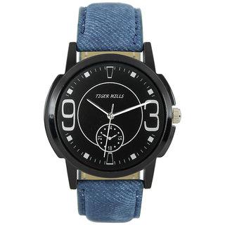 Tigerhills Watch Strap Blue Dial Black Model No-T1961711