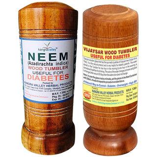 Khadi Neem Vijaysaar Wood Tumbler (Pack of 2)