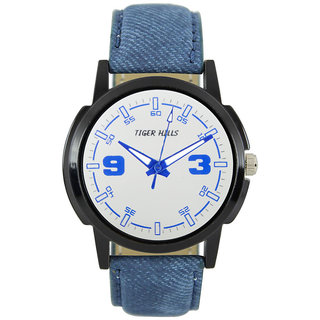 Tigerhills Watch Strap Blue Dial Black Model No-T1961712