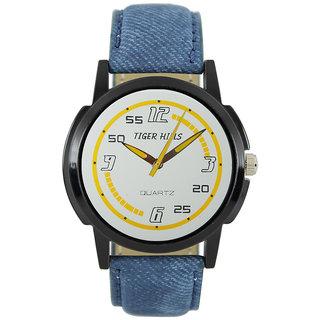 Tigerhills Watch Strap Blue Dial Black Model No-T1961714
