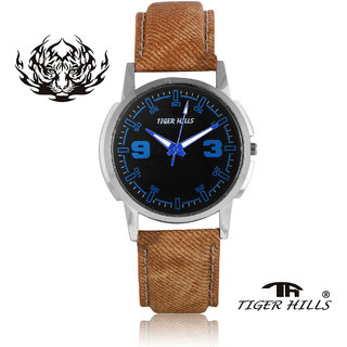 Tigerhills Watch Strap Brown Dial Black Model No-T1961715