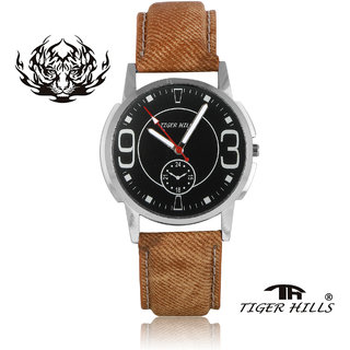 Tigerhills Watch Strap Brown Dial Black Model No-T1961716