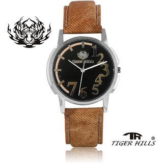 Tigerhills Watch Strap Brown Dial Silver Model No-T1961718
