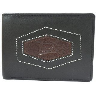 Imex Mens Black Stylish Genuine Leather Wallet