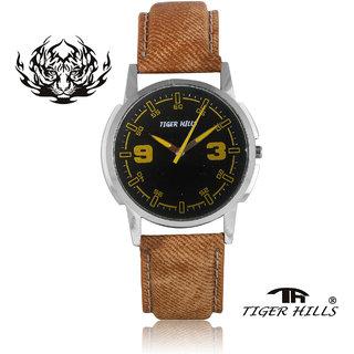 Tigerhills Watch Strap Coral Dial Silver Model No-T206173