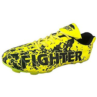 Port Womens Fighter Green Leather Football Sports shoes