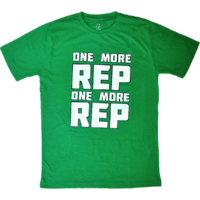 DYEG Motivational Gym T-shirt : One More Rep One More Rep ( Large Size )
