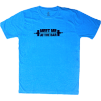 DYEG Motivational Gym T-shirt : Meet Me At The BAR ( Large Size )