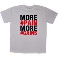 DYEG Motivational Gym T-shirt : More Pain More Gains ( Medium Size )