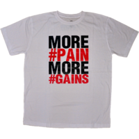 DYEG Motivational Gym T-shirt : More Pain More Gains ( Small Size )