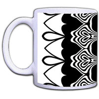 Abstract Black & White Mug By Shopmillions