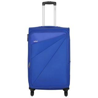 Safari Large Blue Fabric 4 Wheels Trolley