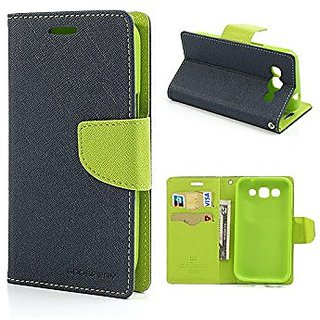 Mercury Wallet Flip Cover Blue for Redmi Note 4