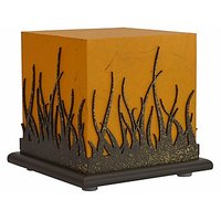 Shady Ideas Golden Yellow With Brown Cutout Forest Fire Small Lamp