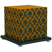 Shady Ideas Yellow With Black Print Paisley Passion Small Lamp