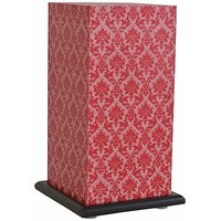 Shady Ideas Light Pink With Dark Pink Print Paisley Passion Medium Lamp