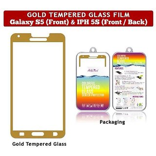 Gold Tempered Glass film IPhone 5S at Best Prices ...