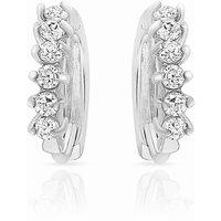 Mahi Rhodium Plated Glittering Charm Earrings (ER1100226R)