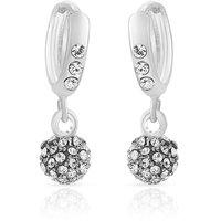 Mahi Royal Silver Sparklers Earrings  (ER1100228R)