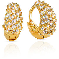 Sparkling Gold Plated  Gold Hoops Earring For Women