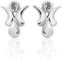 Mahi Rhodium Plated Vibrant Charm Earrings (ER1103685R)