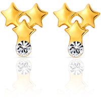 Mahi Gold Plated Triplet Stars Earrings (ER1103688G)