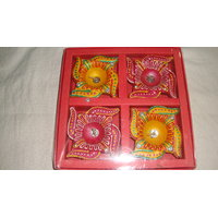Swastik Diya Set Of 4 Pcs