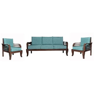 Curtis Wooden Five Seater Sofa Set ( 3+1+1 )