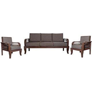 Cass Wooden Five Seater Sofa Set ( 3+1+1 )