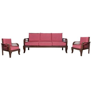 Gallows Wooden Five Seater Sofa Set ( 3+1+1 )