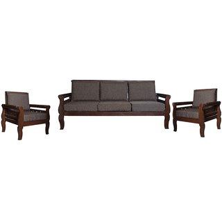 Dustin Wooden Five Seater Sofa Set ( 3+1+1 )