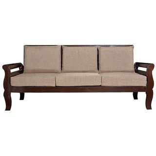 Kendrick Wooden Five Seater Sofa Set ( 3+1+1 )