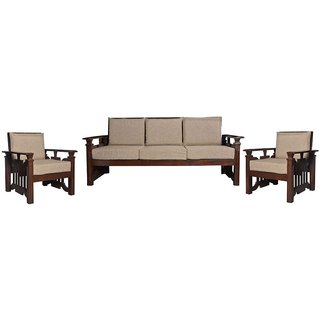 Dawson Wooden Five Seater Sofa Set ( 3+1+1 )