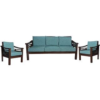Nemeth Wooden Five Seater Sofa Set ( 3+1+1 )