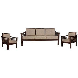Rehwoldt Wooden Five Seater Sofa Set ( 3+1+1 )
