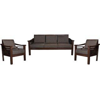 Miroslav Wooden Five Seater Sofa Set ( 3+1+1 )