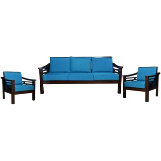 Randal Wooden Five Seater Sofa Set ( 3+1+1 )