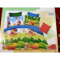 Pooh Kid's Cotton Bedsheet Multicolor